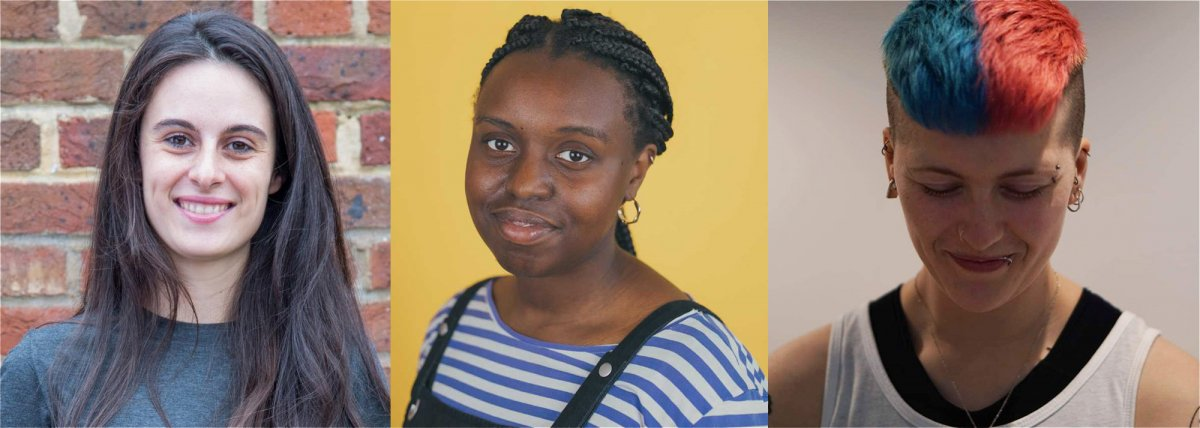 Left to right: Sholeh Johnston, Programme Producer; Salome Wagaine, Programme Manager; Octagon Norman, Communications Manager.